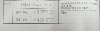 名古屋市スポーツ奨励賞