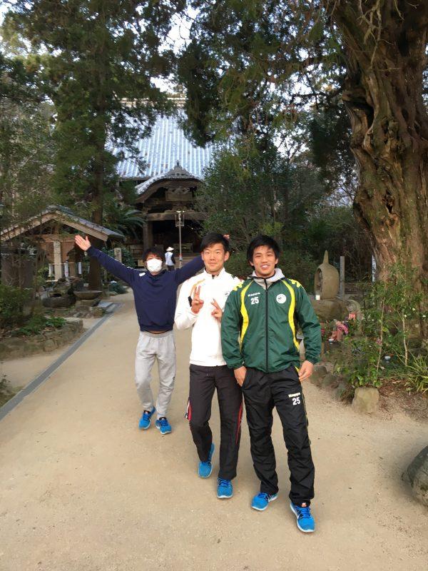 愛媛遠征の同部屋メンバー(左から柳本・中村・若林)